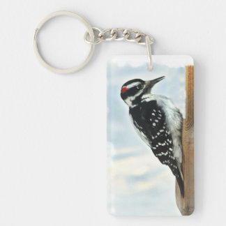 Hairy Woodpecker Keychain
