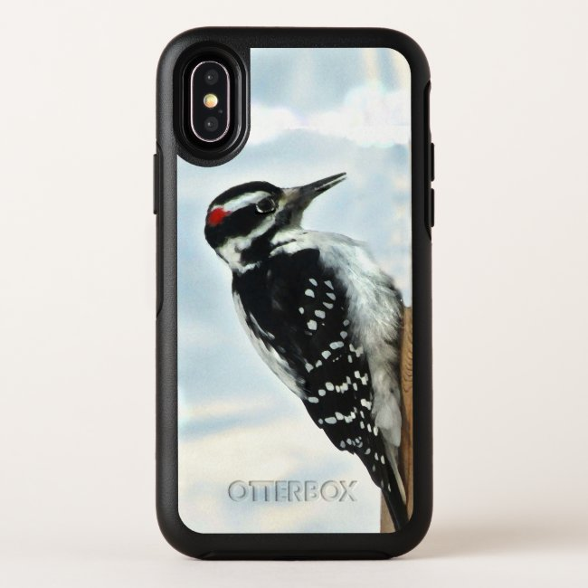 Hairy Woodpecker OtterBox iPhone X Case