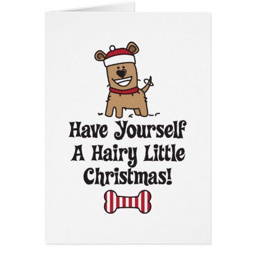 HairyChristmas Greeting Cards