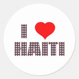 haiti001 classic round sticker