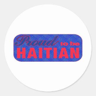 haiti013 classic round sticker