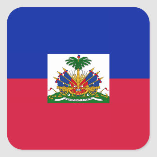 Haití - bandera haitiana pegatina cuadrada