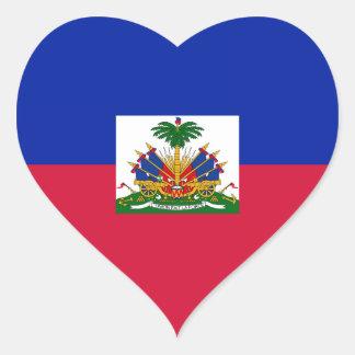 Haití - bandera haitiana pegatina en forma de corazón