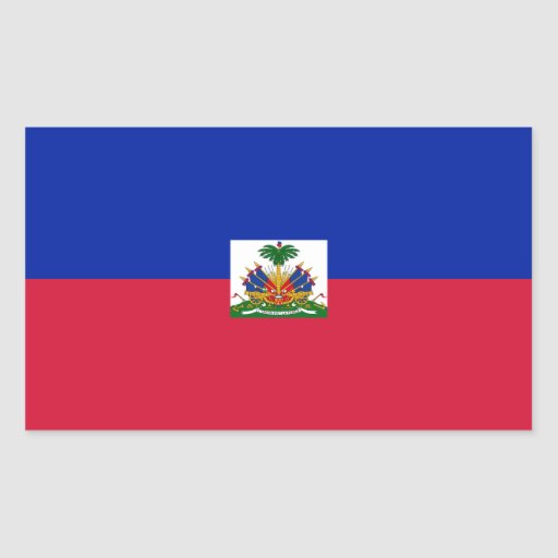 Haití/bandera haitiana pegatina rectangular