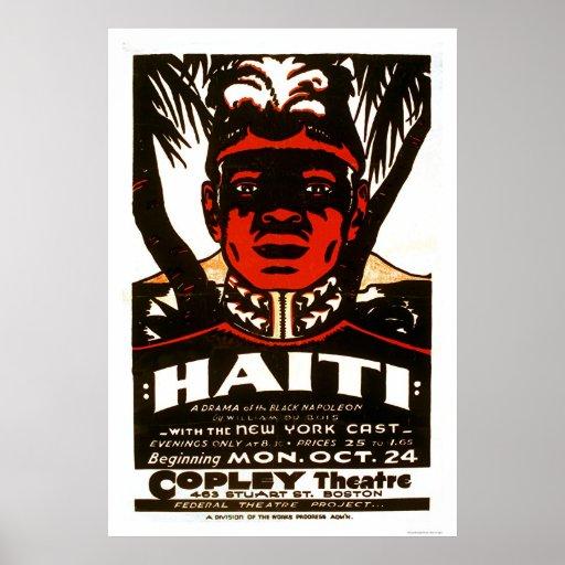 Haiti Black Napoleon 1938 WPA Poster