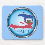 Haití Button.ai redondo Alfombrillas De Raton