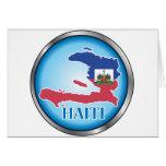 Haití Button.ai redondo Felicitaciones