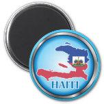 Haití Button.ai redondo Imán De Frigorífico