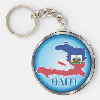 Haití Button.ai redondo Llaveros Personalizados