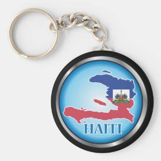 Haití Button ai redondo Llaveros Personalizados