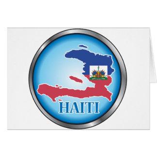 Haití Button.ai redondo Tarjeta De Felicitación