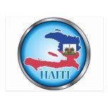 Haití Button.ai redondo Tarjetas Postales