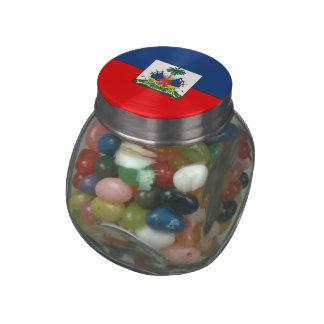 Haiti Glass Candy Jar