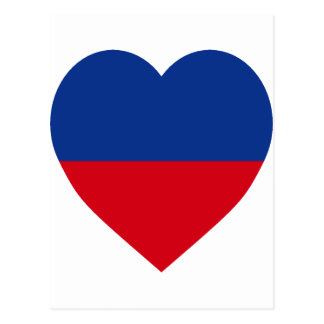 Haiti civil Flag Heart Postcard