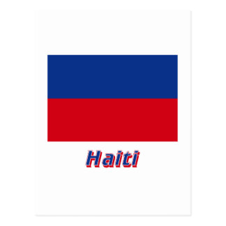 Haiti Civil Flag with Name Postcard