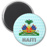 Haiti Coat of Arms 2 Inch Round Magnet
