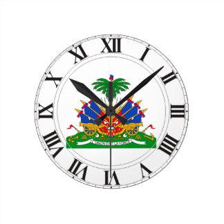 Haiti Coat of Arms Round Clocks