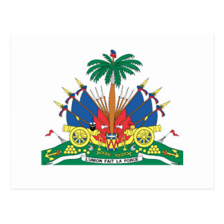 HAITI COAT OF ARMS POSTCARD