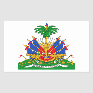 Haiti Coat of Arms Rectangular Sticker