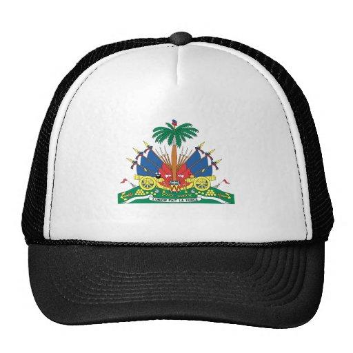 HAITI COAT OF ARMS TRUCKER HAT
