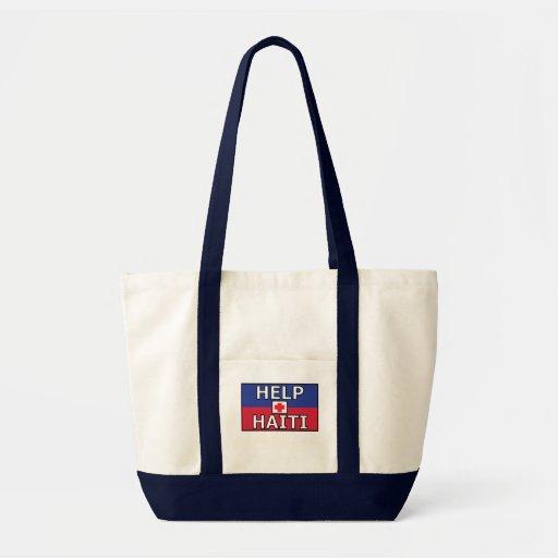Haiti Cross White Tote Impulse Tote Bag
