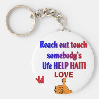 HAITI_ de ayuda Llavero