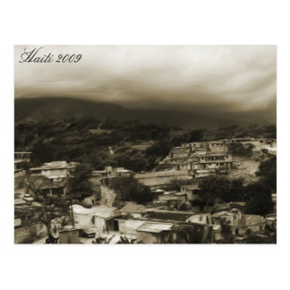 ~ Haití de la postal Mountians 2009 y ciudad pobre