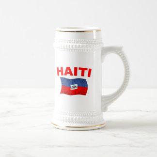 Haiti Earthquake Flag Design Beer Stein