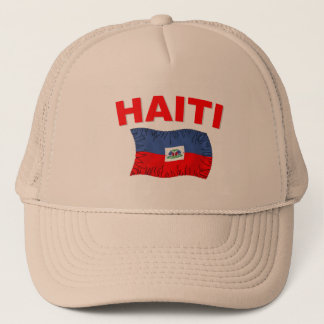 Haiti Earthquake Flag Design Trucker Hat