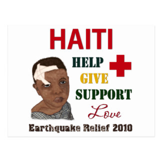 Haiti Earthquake Relief 2010 Boy Postcards Stamps