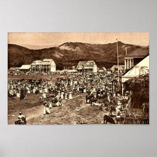 Haití, el mercado, príncipe Vintage Print del au d Posters