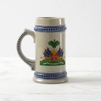 haiti emblem beer stein