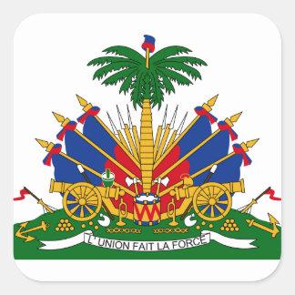 haiti emblem square stickers