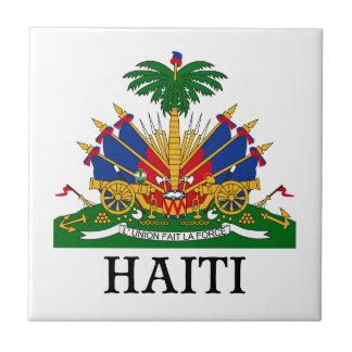 HAITÍ - emblema/escudo de armas/bandera/símbolo Azulejo Cuadrado Pequeño