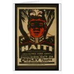 Haití en el teatro de Copley, Tarjeta