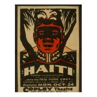 Haití en el teatro de Copley, Postal