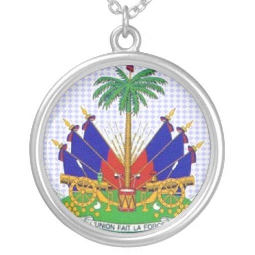 Haiti encircled pendant