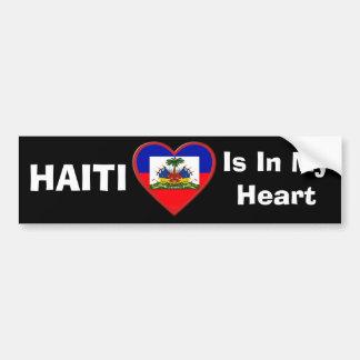 Haití está en nuestra pegatina para el parachoques etiqueta de parachoque