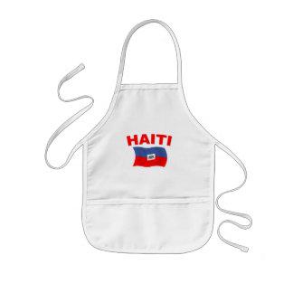 Haiti Flag 3 Kids' Apron