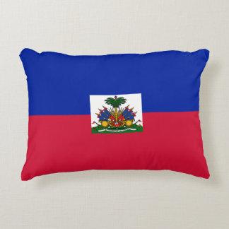 Haiti Flag Accent Pillow