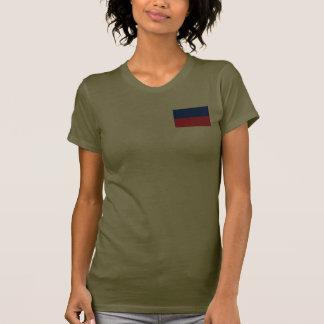 Haiti Flag and Map dk T-Shirt