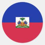 Haiti Flag Classic Round Sticker