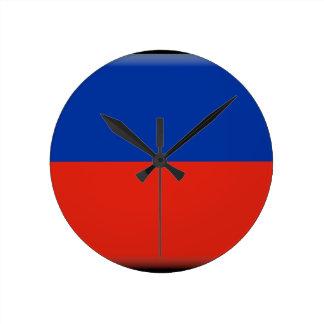 Haiti Flag Round Wall Clocks