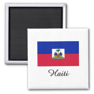 Haiti Flag Design 2 Inch Square Magnet