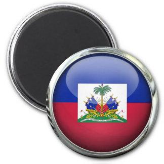 Haiti Flag Glass Ball 2 Inch Round Magnet