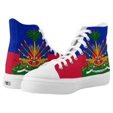 Haiti Flag High-Top Sneakers