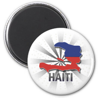 Haiti Flag Map 2.0 Magnet