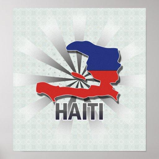 Haiti Flag Map 2.0 Poster