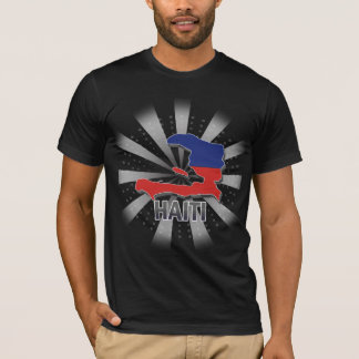 Haiti Flag Map 2.0 T-Shirt
