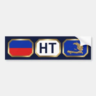Haiti Flag Map Code Bumper Sticker
